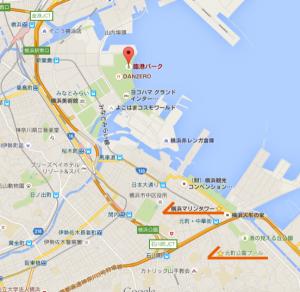 神奈川新聞花火大会の地図