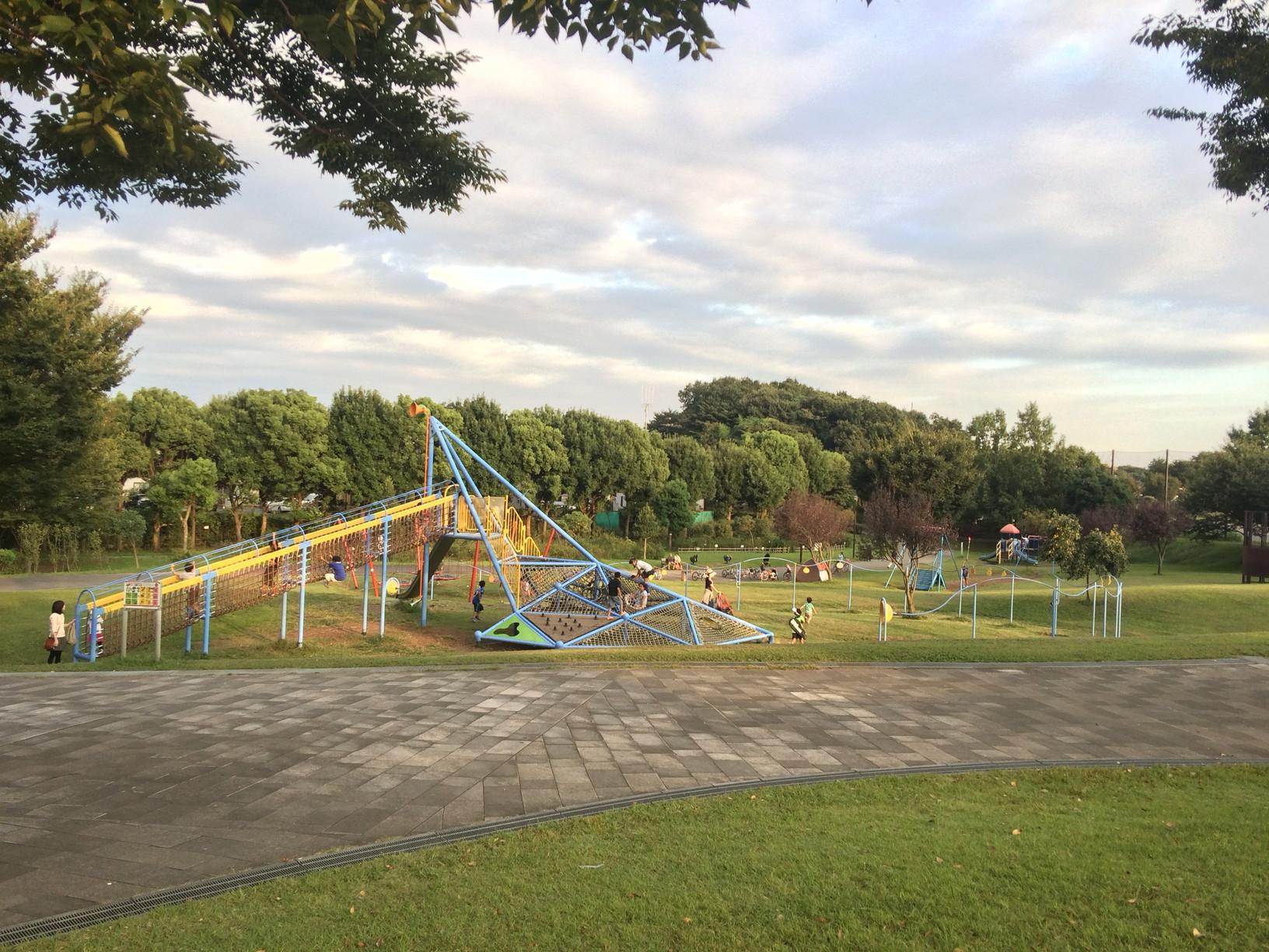 長坂谷公園:広い芝生と、大きな遊具。開放感いっぱいの穴場 ...