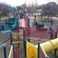 大師公園:子供が大喜びの大型遊具に広い芝生広場。ものすごく大きな砂場のある公園! (川崎市川崎区)