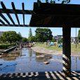 大師公園:広~い水路(カナール)で水遊び !大型遊具・ロングすべり台で一日遊べる!仲見世通りぶらり散策もはずせません。[川崎市川崎区]