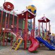 新横浜公園:人気の大型遊具に、自転車練習、バスケットにスケボーもできて、小さい子供から小学生以上まで一日遊べます![港北区]